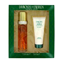 Diamonds & Emeralds By Elizabeth Taylor For Women Gift Set -- 3.3 Oz Eau De Toilette Spray + 3.3 Oz Body Lotion 18 Oz