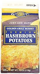 Golden Grill Russet Hashbrown Potatoes(56 total servings) 8 count pack Net Wt 4.2 oz(119g) per carton