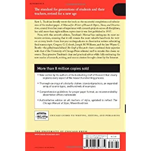 a manual for writers of research papers theses and dissertations Find great deals for chicago guides to writing, editing, and publishing: a manual for writers of research papers, theses, and dissertations, eighth edition : chicago style for students and researchers by kate l turabian (2013, paperback.