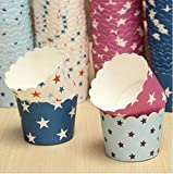 50Pcs Star Pattern Cupcake Paper Muffin Cup High Temperature Baking Cup by STCorps7
