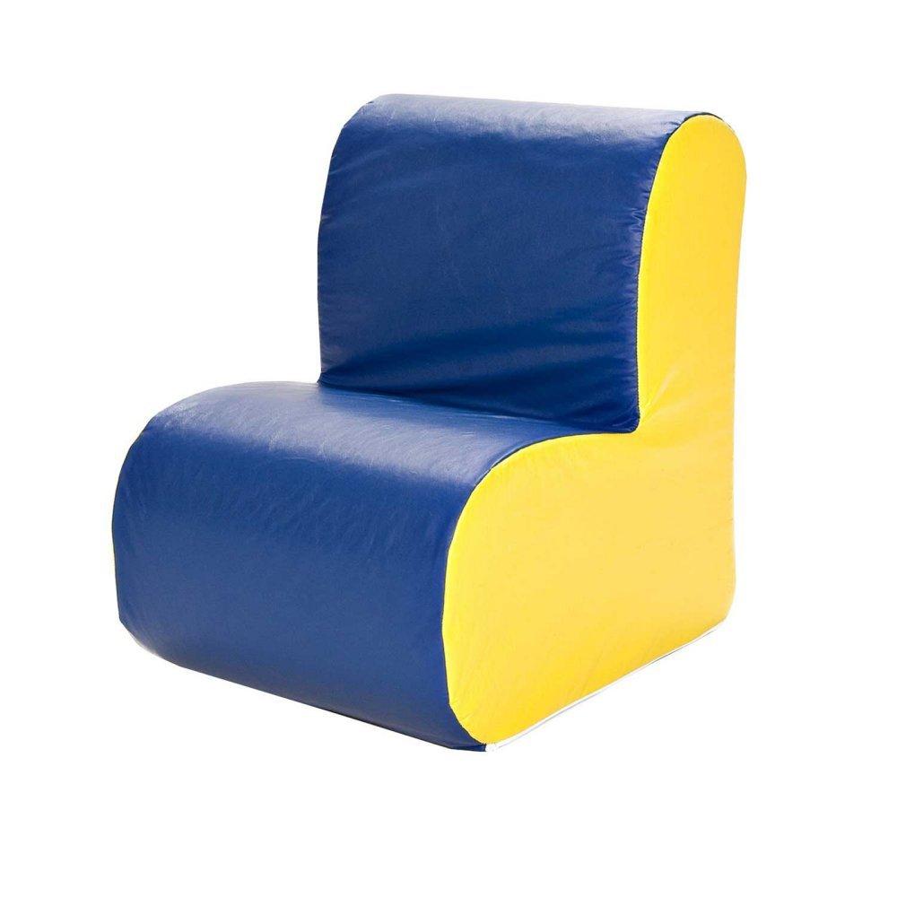 Foamnasium 1058 Wolke Chair – Blau Gesicht oder Yellow Seite