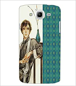 PrintDhaba Sitting Boy D-4751 Back Case Cover for SAMSUNG GALAXY MEGA 5.8 (Multi-Coloured)