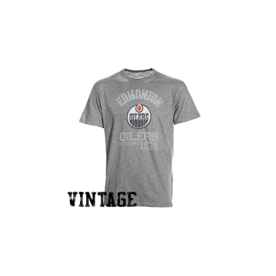 d9c107a6dc4 NHL 47 Brand Edmonton Oilers Baseline Vintage T shirt Ash on PopScreen