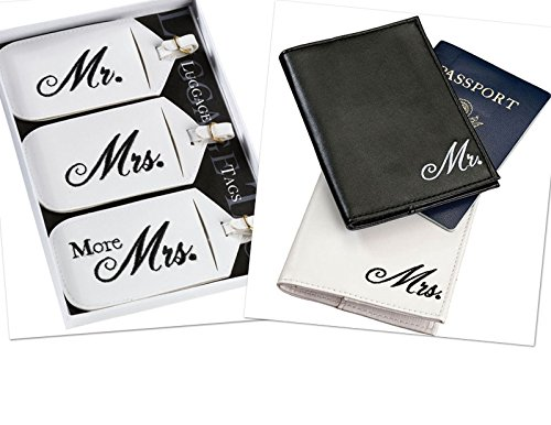 Mr. and Mrs. Passport Covers and Luggage tags