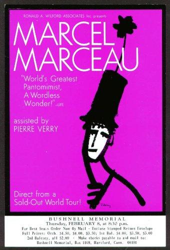 Marcel Marceau Flyer Bushnell Hartford Ct 1962 ?