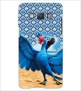 PrintDhaba Animated Parrot D-4520 Back Case Cover for SAMSUNG GALAXY A5 (Multi-Coloured)