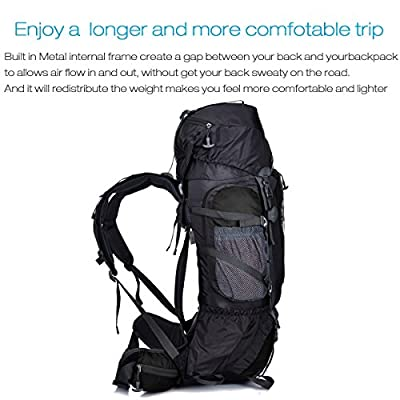 Fencher 85L internal Frame backpack with rain cover for Men and women, Outdoor Backpacks for Camping Hiking Traveling Climbing