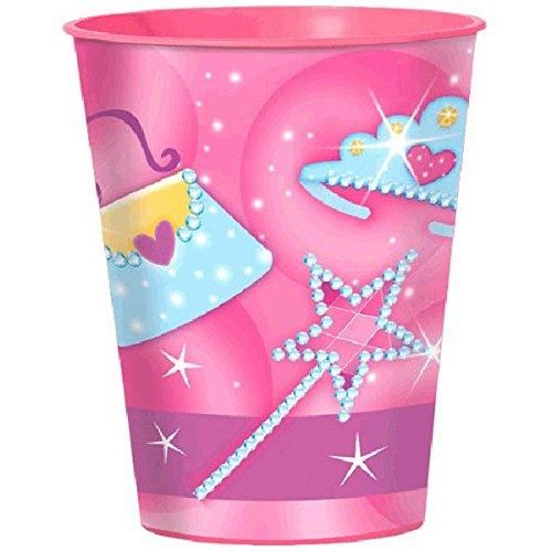Amscan Dainty Princess Birthday Party Cup (1 Piece), Pink, 16 oz