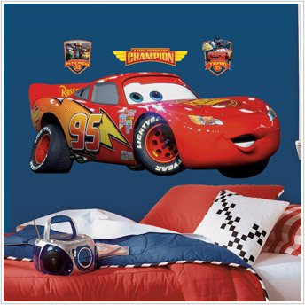 "Disney Cars Giant 39"" Lightning Mcquen Wall Mural Stickers Room Decor Decals R5"
