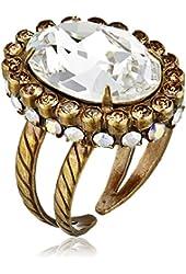Sorrelli Crystal Encrusted Antique Adjustable Ring