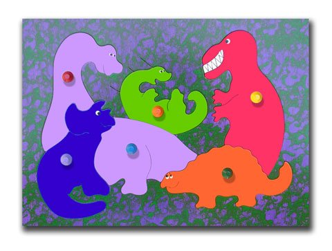 Cheap KidPuzzles Puzzle With Pegs Dinosaurs (B00564HMRO)