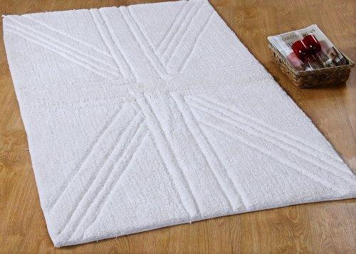 Union Jack Vorleger, Teppich: 90 x 150 cm, Matte mit eingeprägter Britischer Flagge. Farbe: elfenbein. Geeignet für das Badezimmer oder den gesamten Innenbereich. online bestellen