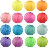 """MicroMall(TM) 8 Assorted (DIFFERENT) Color Chinese/Japanese Paper Lanterns/lamps 12"""" Diameter - Just Artifacts Brand"""