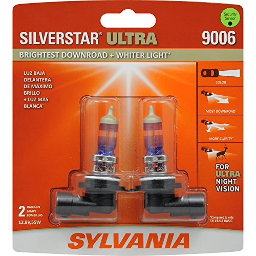 SYLVANIA 9006 SilverStar Ultra High Performance Halogen Headlight Bulb, (Contains 2 Bulbs) (Corolla 96 Headlight compare prices)