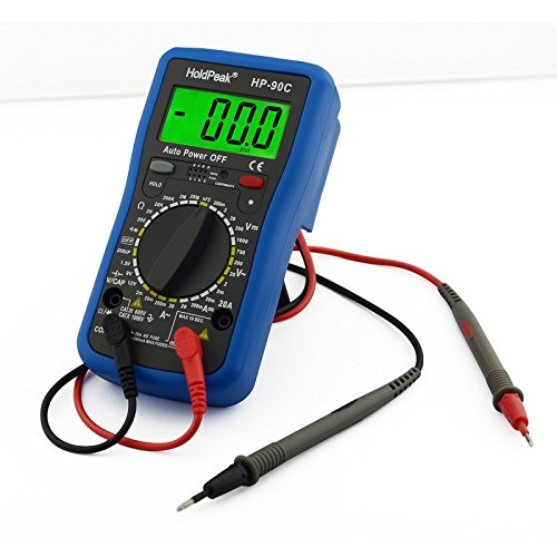 HoldPeak HP-90series True RMS Auto Ranging Digital Multimeter Meter with Battery Test/Min Max Value (blue black 90C)