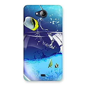 Enticing Cute Tub Fish Back Case Cover for Canvas Play Q355