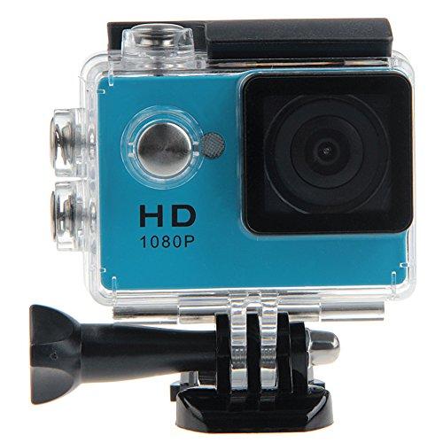 Padgene Full HD 1080P Sport Videokamera Camera Camcorder Action DVR Outdoor Wasserdichte Hülle (Blau)