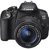 Canon EOS 700D Digital SLR Camera with 18-55 mm Lens Kit - Black (18 MP, CMOS Sensor, 10x Optical Zoom)