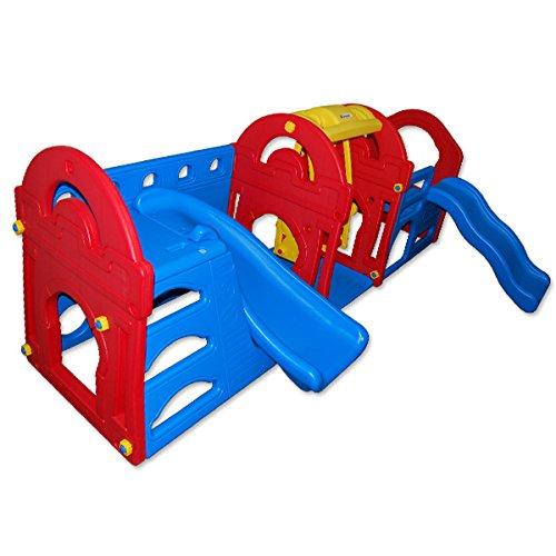 13085 – PETRA 4 – XXL-Spielhaus mit Rutsche und Schaukel – L/B/H: ~ 155x257x101 cm online bestellen