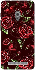 The Racoon Lean Maroon Rose Wallpaper hard plastic printed back case / cover for Asus Zenfone 5 A500CG/A501CG