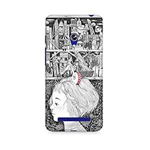 Mobicture Girl Abstract Premium Designer Mobile Back Case Cover For Asus Zenfone 5