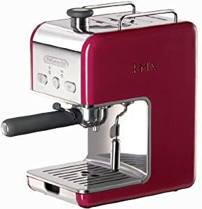DeLonghi Kmix 15 Bars Pump Espresso Maker, Red