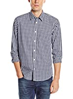 Tom Tailor Camisa Hombre (Azul Oscuro / Blanco)