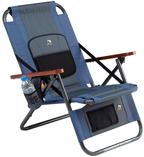 Gci Outdoor Wilderness Recliner, Midnight back-937578