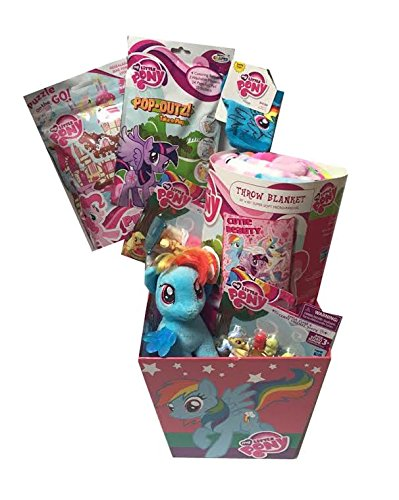 My Little Pony Ultimate Gift Basket with My Little Pony Cutie Beauty Plush Throw Blanket - Ideal for Birthday, Easter, Get Well or other Occasion