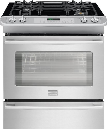 "Frigidaire Fpgs3085Pf Professional 30"" Stainless Steel Gas Slide-In Sealed Burner Range - Convection front-37190"