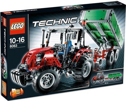 lego technic 8063 traktor mit anh nger neu review. Black Bedroom Furniture Sets. Home Design Ideas