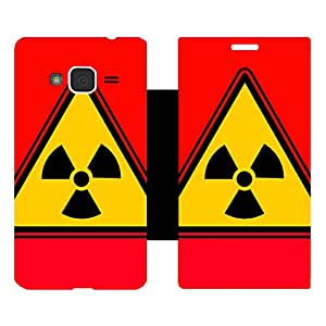 Skintice Designer Flip Cover with Vinyl wrap-around for Samsung Galaxy J3 (2016), Design - Yellow Radioactive