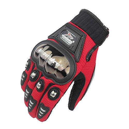 madbike Full Finger guanti moto estivi per (red-size XXL)