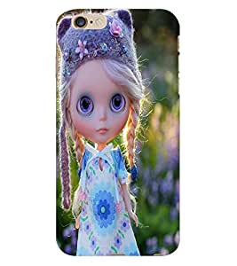 Fuson 3D Printed Cute Doll Designer Back Case Cover for Apple iPhone 6 Plus - D742