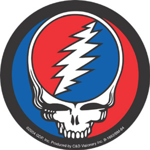 "Licenses Products Grateful Dead Steal Your Face Button Magnet, 3"" - 1"