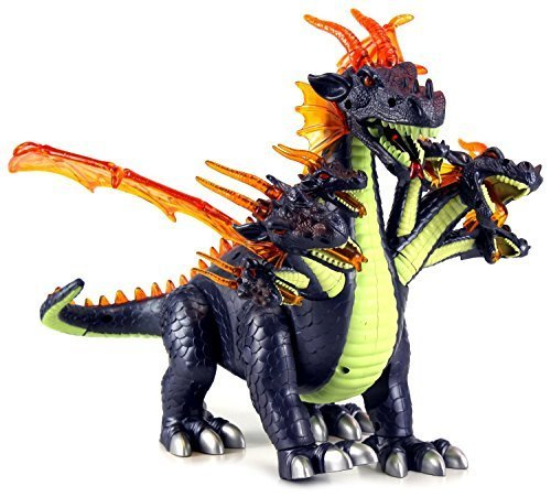 VT Dinosaur World Ultimate 7 Headed Dragon Battery Operated Walking Toy Dinosaur Figure w/ Realistic Movement, Lights and Sounds (Colors May Vary) by VT (Seven Headed Dragon compare prices)