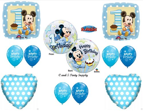 New!! Baby Mickey Mouse Birthday 1St First Party Balloons Decorations Supplies front-886951