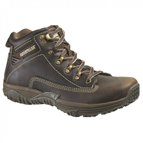 CAT Caterpillar Men Corax Nutmeg Brown Leather Work Boot Sho