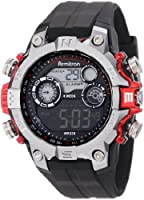 Armitron Men's 40/8251RED Black Digital Sport with Red Metalized Accents Watch by Armitron