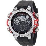 Reloj Armitron 40/8251RED, digital, para hombre. Tonos plateado y rojo. Deportivo.