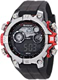 Armitron Mens 40/8251RED Black Digital Sport with Red Metalized Accents Watch
