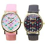 Geneva Fashion Ladies Women Faux Leather Quartz Wrist Watch