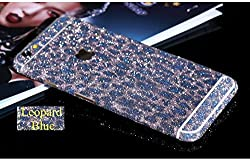 Supstar Sparkly Crystal Diamond Sticker Full Body Skin Wrap Covered Edges Vinyl Decal Screen Protector Film for Apple iPhone 6Plus/6s Plus 5.5 Inch (Leopard Blue)