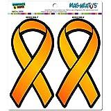 Orange Awareness Support Ribbon - Leukemia Multiple Sclerosis MAG-NEATO'S(TM) Automotive Car Refrigerator Locker Vinyl Magnet Set