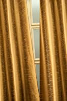 Metallic tone raw faux silk curtain/panel/drape