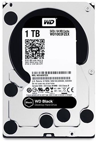 "WD WD1003FZEX Hard Disk Desktop Performance, 7200 RPM, SATA 6 GB/s, 64 MB Cache, 3.5 "", 1 TB, Nero"