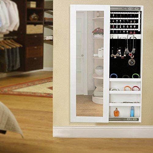 songmics 120 x 40 x 9 5 cm schmuckschrank spiegelschrank wandspiegel spiegel h ngeschrank. Black Bedroom Furniture Sets. Home Design Ideas