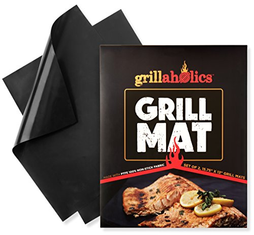 Grillaholics Grill Mat - Set of 2 Nonstick BBQ Grilling Mats - 15.75 x 13-Inch (Propane Auger Accessories compare prices)