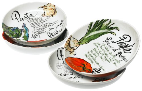 Rosanna Pasta Italiana Pasta Bowls Set of 4 (Pasta Plates And Bowls Set compare prices)
