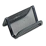 RolodexTM Mesh Business Card Holder, Capacity 50 2 1/4 x 4 Cards, Black